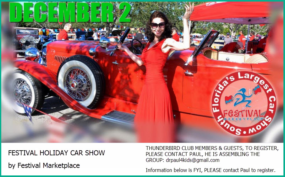 Classic Thunderbird Club Of South Florida - Car show florida
